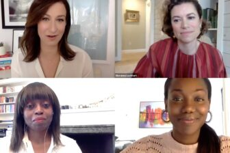 Four women having a virtual panel discussion
