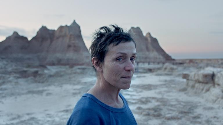 Frances McDormand in the film NOMADLAND.
