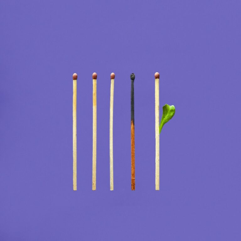 Matches: one burnt, one showing promise